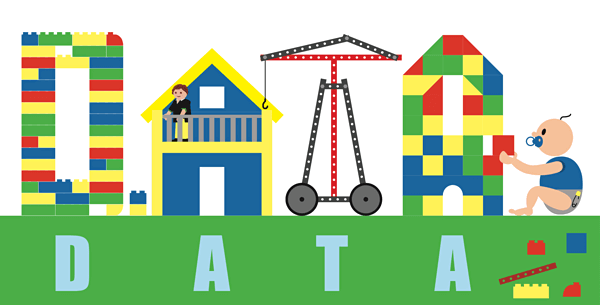 Illustration of data as toys.